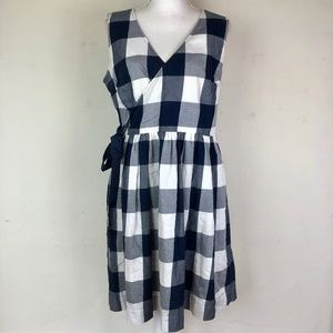 Tommy Hilfiger Checkered Wrap Dress 10